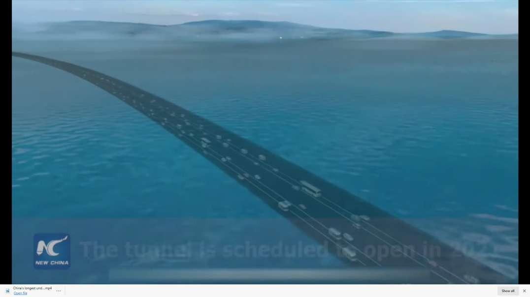 China' s longest underwater highway under construction